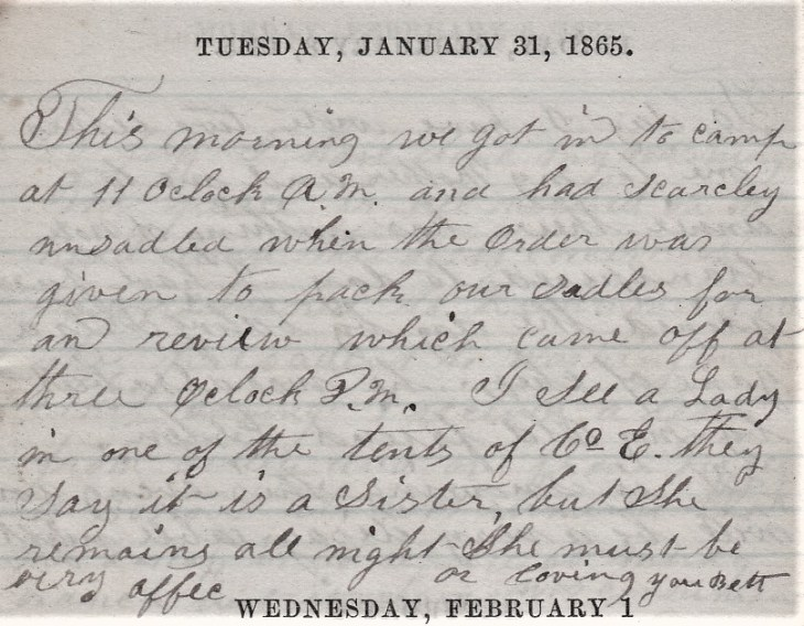Jenkins Diary January 28-February 2