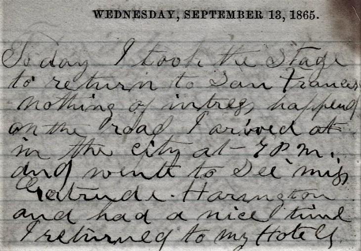 Jenkins Diary September 13-18