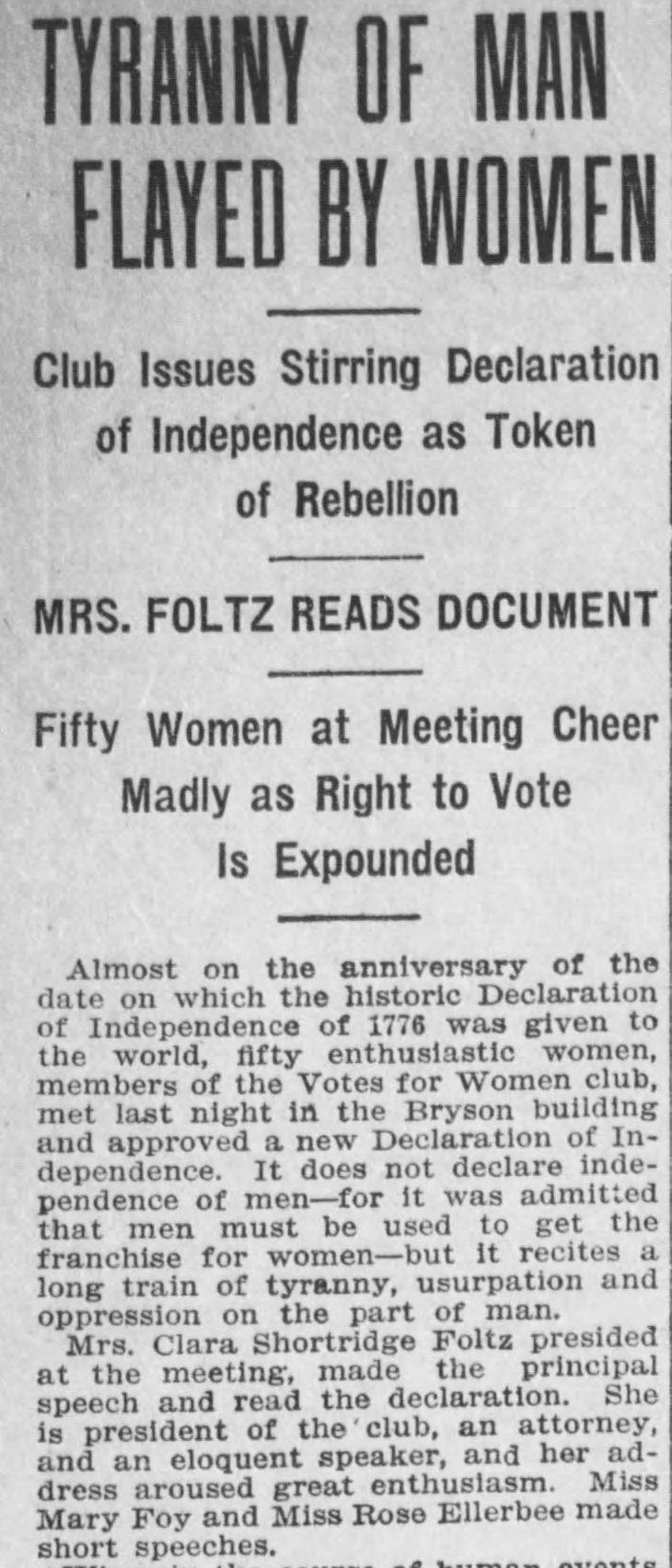 Ellerbee Votes for Women Club Los_Angeles_Herald_Fri__Jul_1__1910_