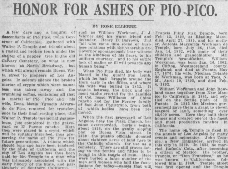 Honor for Ashes of Pio Pico The_Los_Angeles_Times_Sun__Mar_6__1921_ (3)