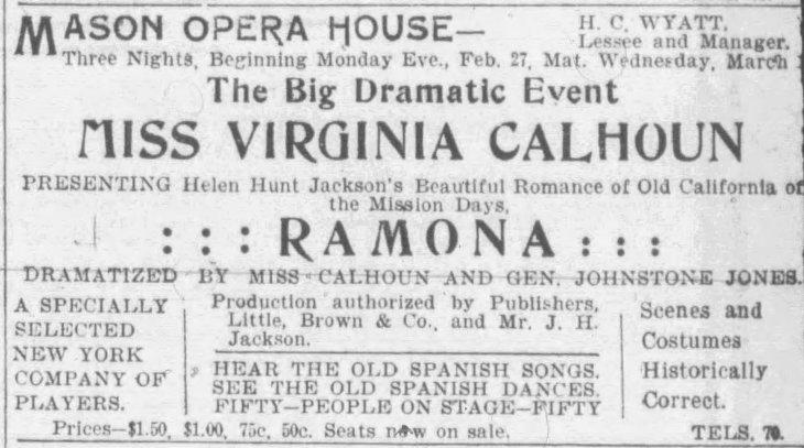 Johnstone Jones Ramona ad The_Los_Angeles_Record_Sat__Feb_25__1905_