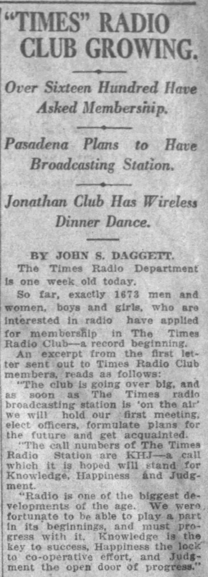 Daggett 1st mention KHJ The_Los_Angeles_Times_Sun__Apr_2__1922_
