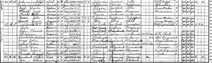 Josephine Workman 1900 census