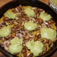 Polenta-Tarte mit Brokkoli-Creme