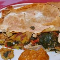 Schneller Spinat-Börek mit Kichererbsen-Omelette für den großen Hunger
