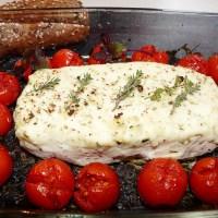 Gratinierter veganer Mandel-Feta: easy-cheezy