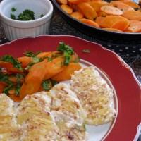 Genuss pur: Kartoffelgratin und Gemüselust
