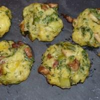 Feine herbstliche Kartoffel-Plätzchen mit Pilzen