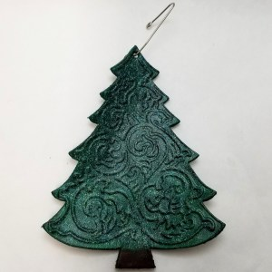 Embossed Christmas Tree Ornament