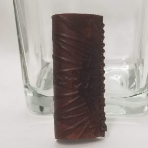 Cigarette Lighter Cover - Brown Compass