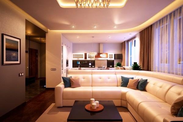 Дизайн двухкомнатной квартиры 70 кв. м с террасой