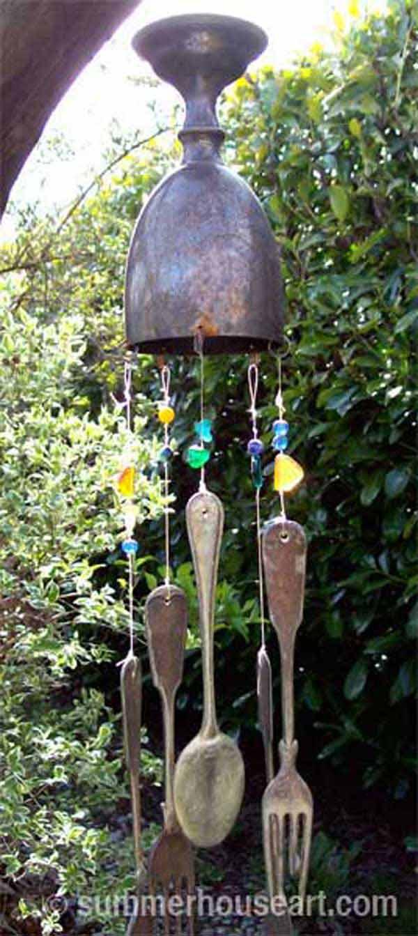 Wire Garden Art Diy Wind Chimes