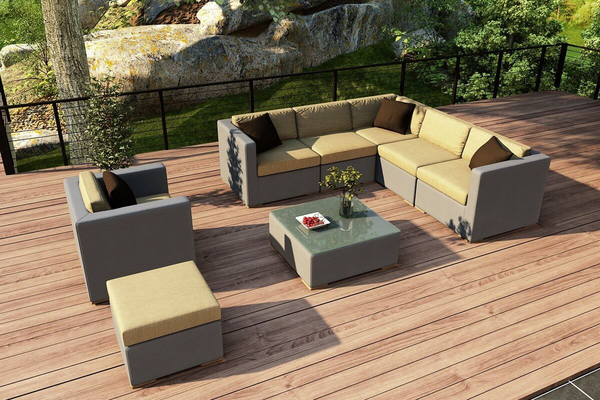 all weather outdoor patio sectionals