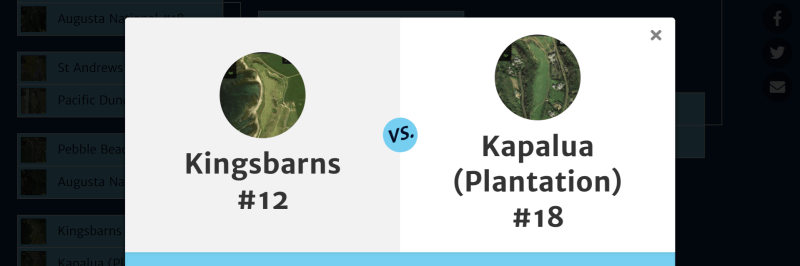 Kingsbarns #12 vs. Kapalua (Plantation) #18