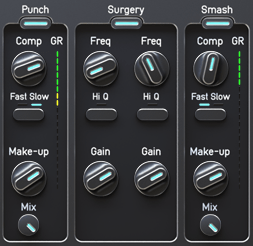 Audified ToneSpot Voice Pro Review Punch, Surgery and Smash controls