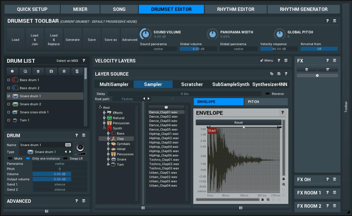 MeldaProduction MDrummer Drumset Editor