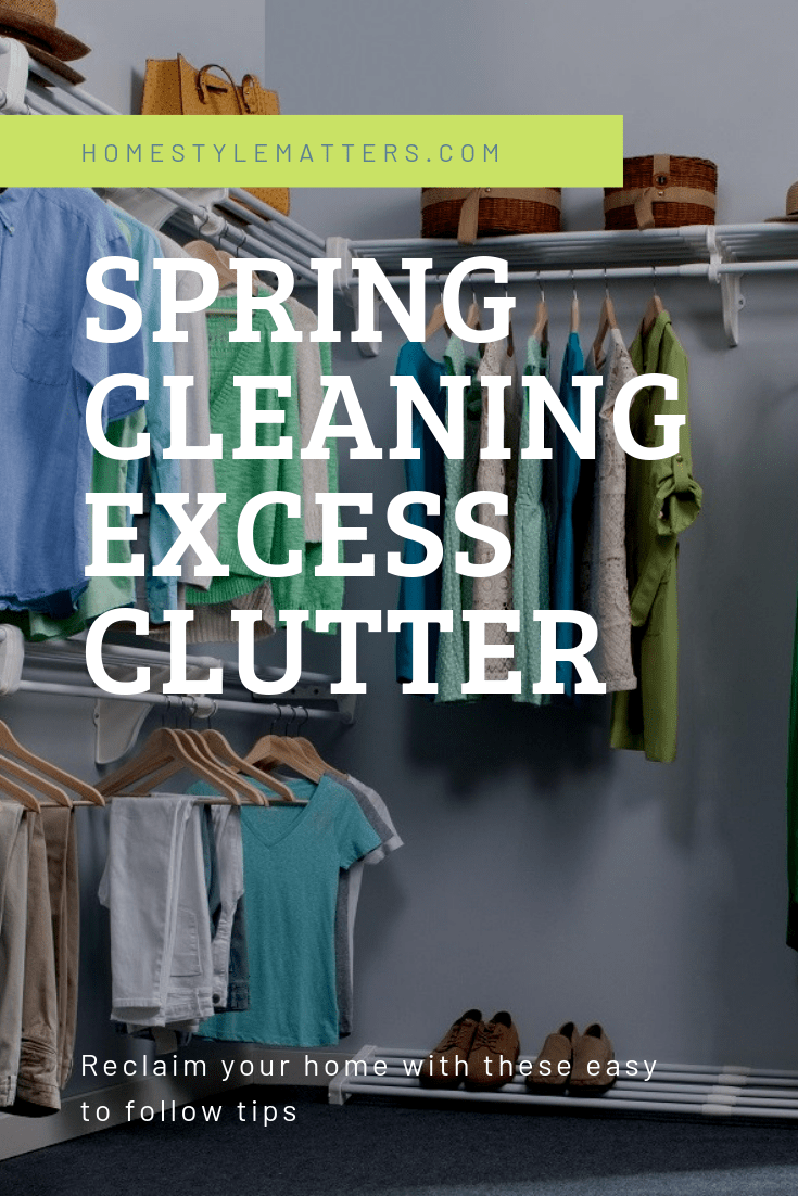 Spring Cleaning Excess Clutter