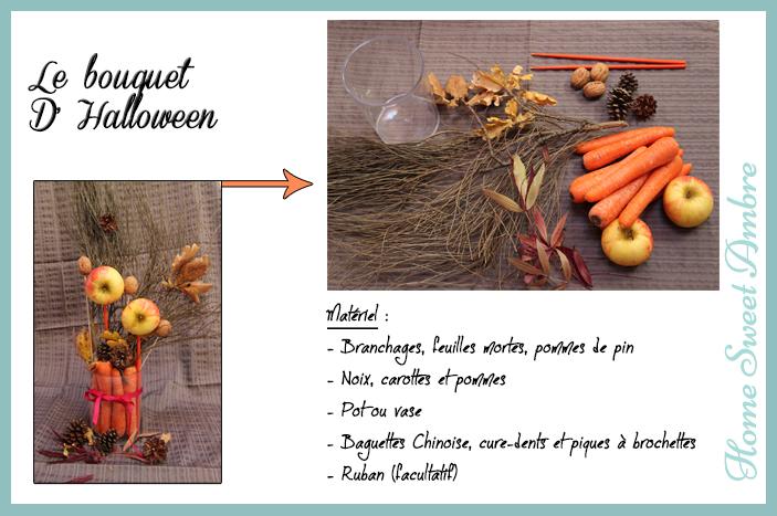 halloween bouquet centre de table d'automne - homesweetambre