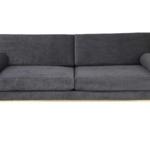 Cozy Living Club velvet sofa - Steel