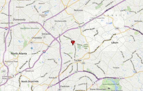 Dekalb County GA Map Westwood Neighborhood Doraville