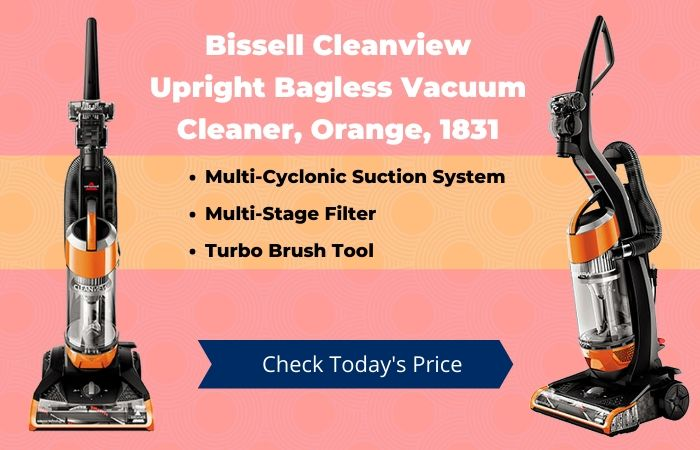 Bissell Cleanview Upright Bagless Vacuum Cleaner Orange 1831
