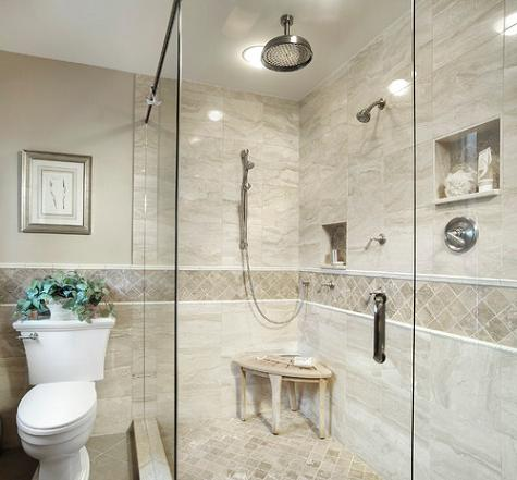 tile border to dress up your shower tile