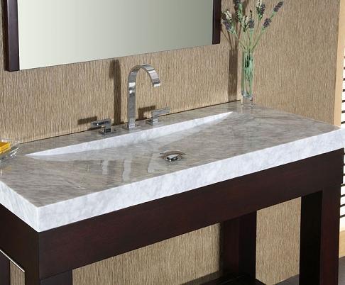integrated stone sinks bathroom