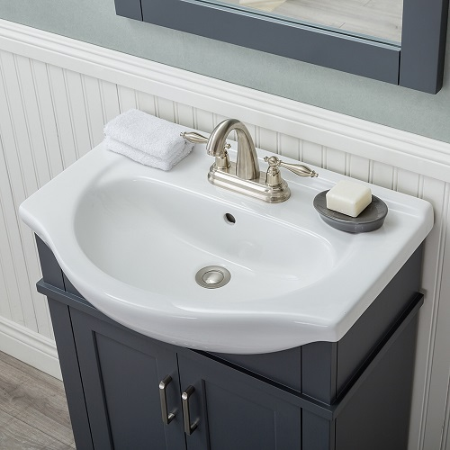 narrow bathroom vanities a simple