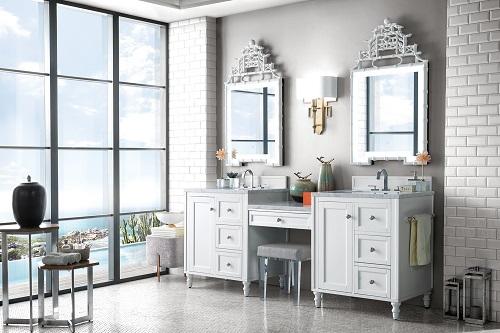 bathroom vanities with built in makeup