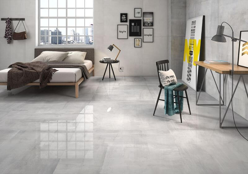 Starkpol Light, Grey Polished Porcelain Tile