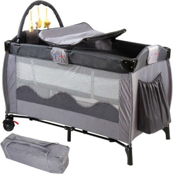 Infantastic Baby Bed Travel Cot Portable Child Nursery Furniture with Toys Review