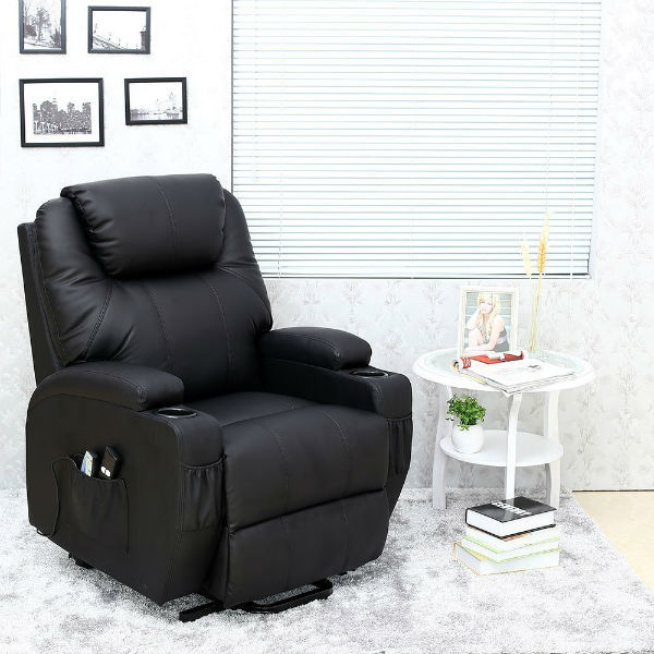 Cinemo Elecrtic Rise Recliner Leather Massage Heat Armchair Review
