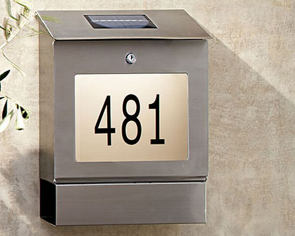Solar House Number Display & Mailbox