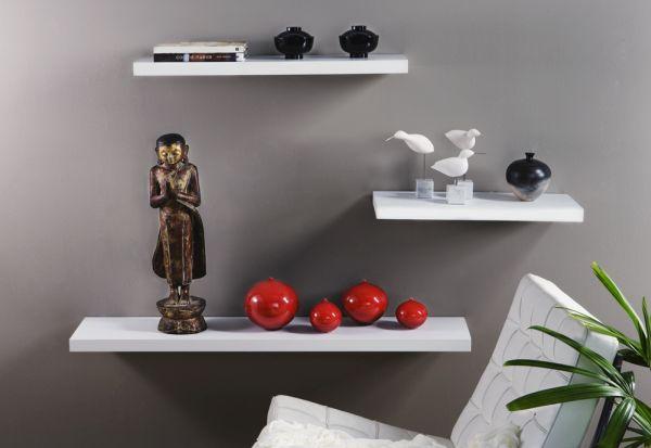 Concealed shelves