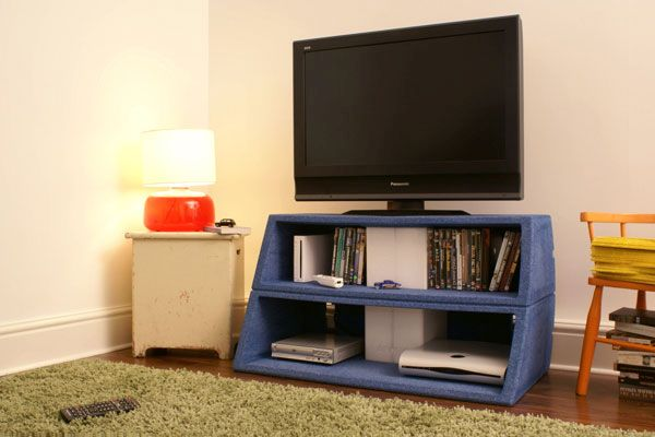 Compact transpicuous TV stand