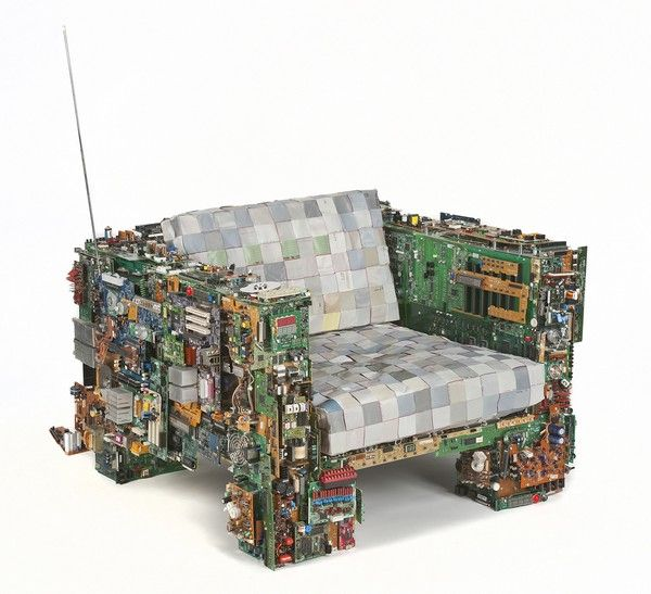 Recycle computer parts chair
