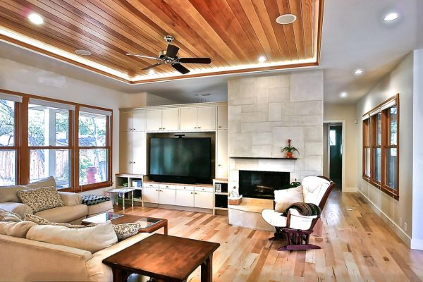 Wooden recessed ceiling