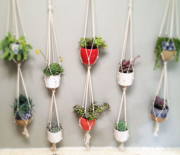 Cotton rope pot hangers