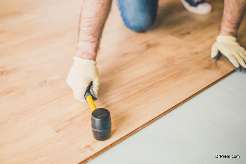 wooden floor shades