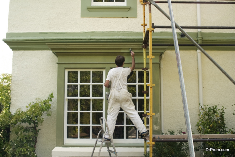 exterior painting of the house