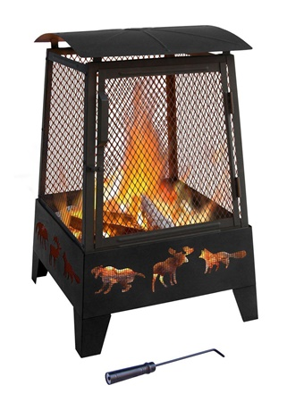 Haywood Wildlife Fireplace Fire Pit