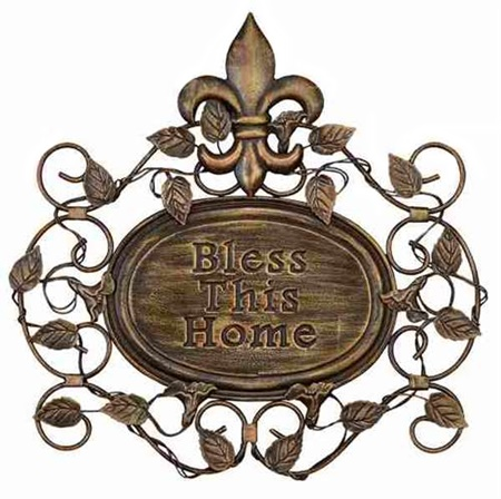 Bless This Home Metal Wall Art Decor