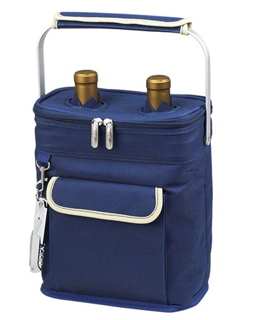 Two Bottle Insulated Wine Carrier Tote