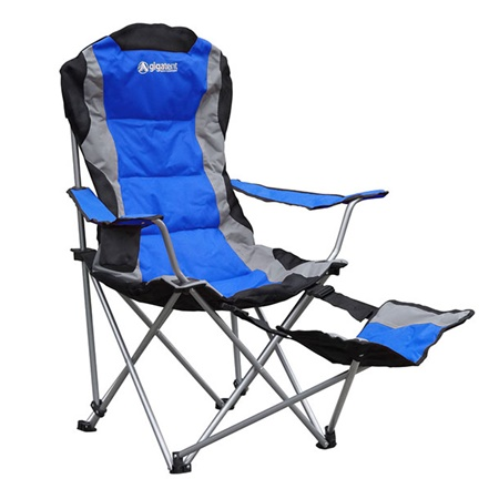 Camping Chair With Adjustable Footrest