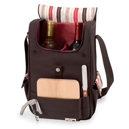 Volare Moka Two Bottle Wine Cheese Tote