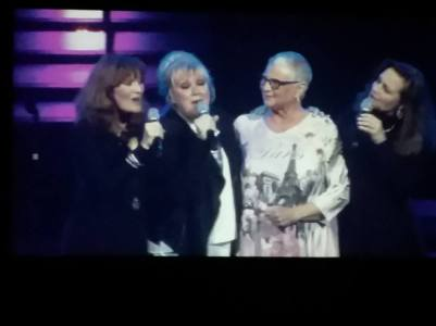 Janet teams up with the Lennon Sisters on a song.