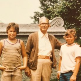 grandfather and two boys