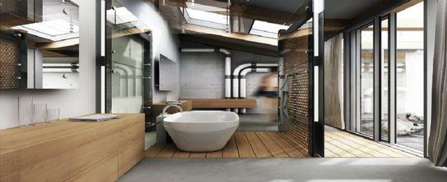 1 Industrial Bathroom Design Ideas