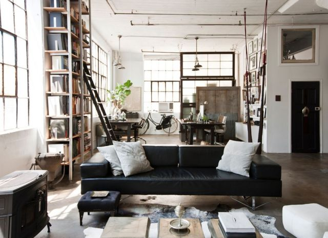 Industrial Style Apartment Living Room 3