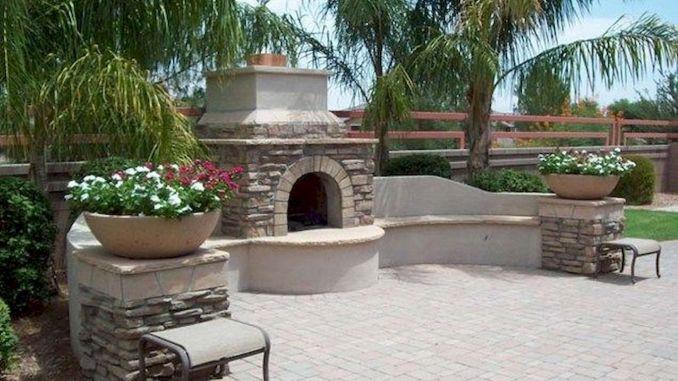 Ultimate Backyard Fireplace Sets The Outdoor Scene 107